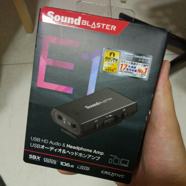 Creative sound blaster E1 Headphone amp