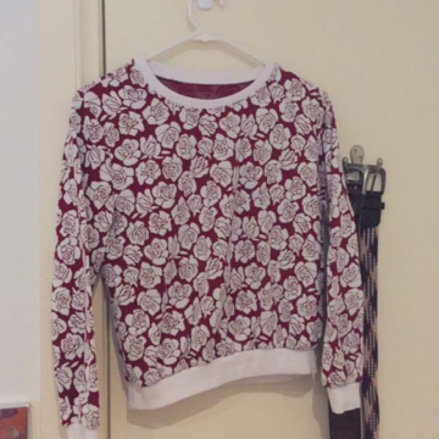Cropped rose jumper