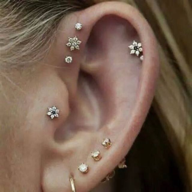 Diamond Stud Earrings 3mm For Helix Tragus Conch Women S Fashion Jewellery On Carou