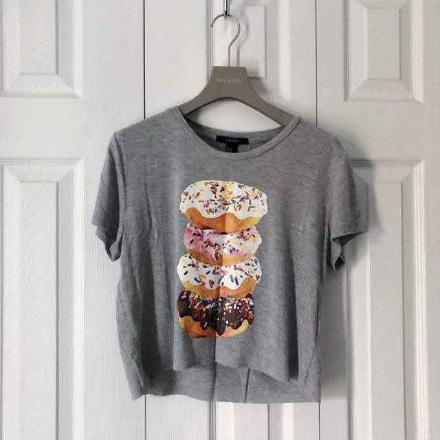 DONUTS CROP TOP, FOREVER 21.
