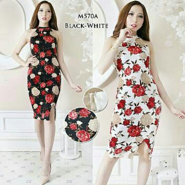 dress bunga import