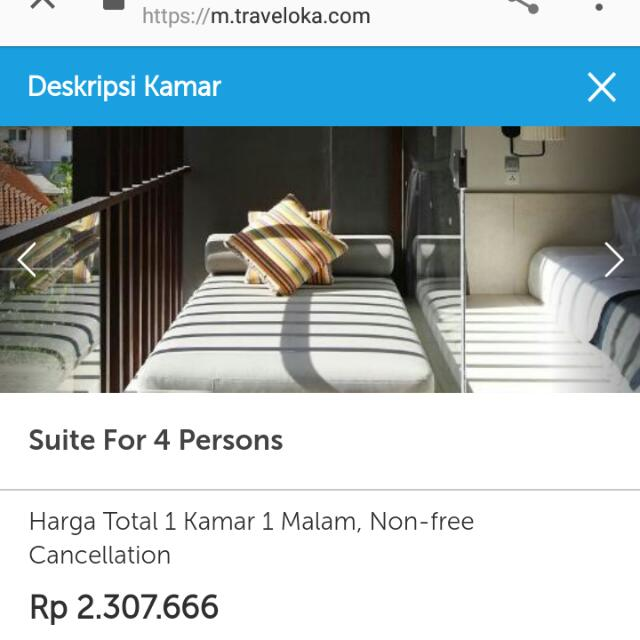 Familly Room @ Watermark Hotel n Spa Di jimbaran, Bali