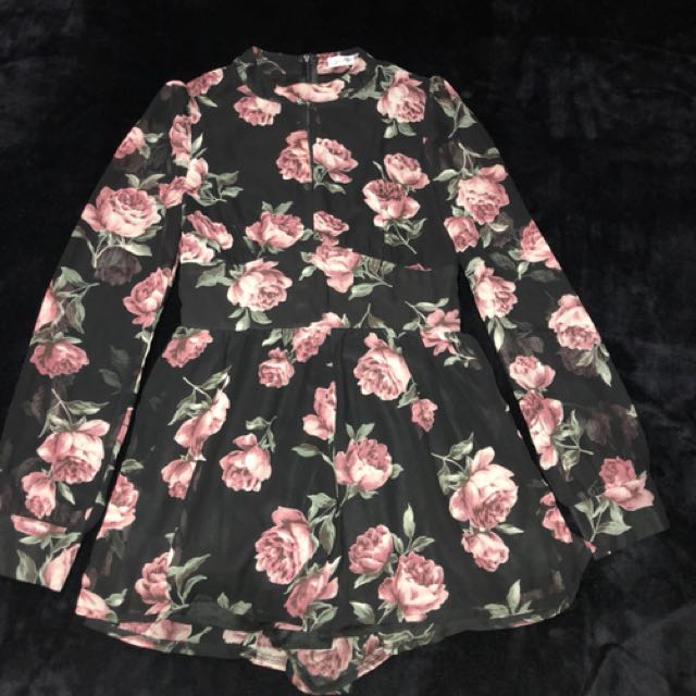 Floral playsuit. NZ size 8