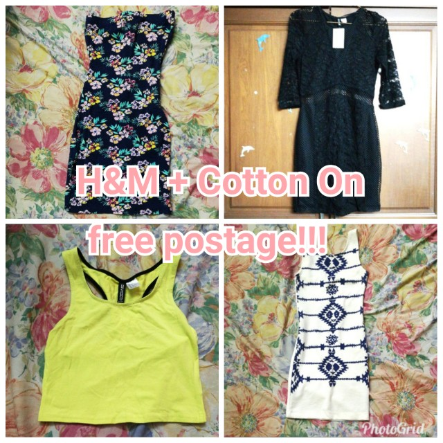 Free postage for H&M, Cotton On items!