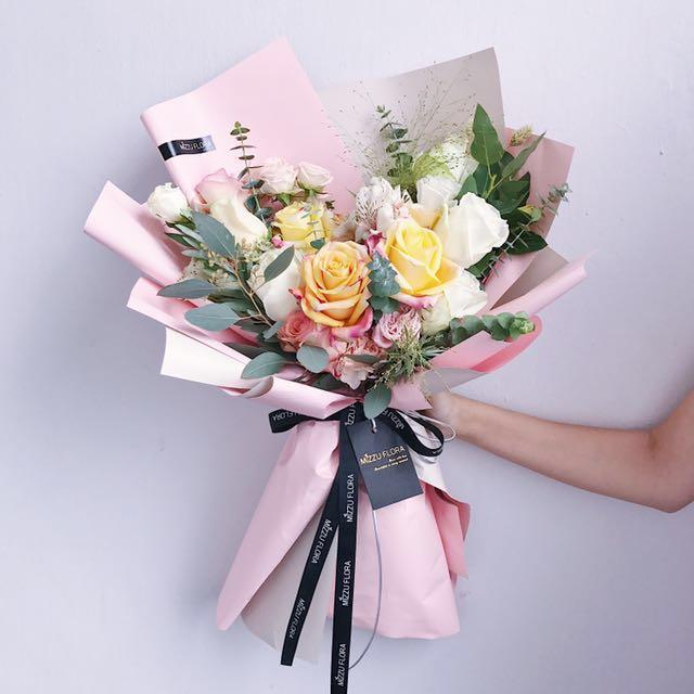 Fresh Flower Bouquet | Birthday Flower Gift | Valentines Day Gift ...