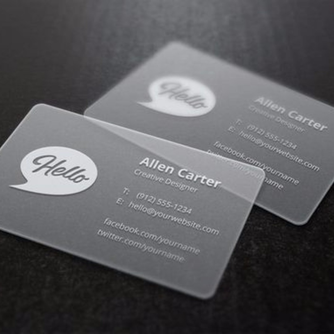 FROSTED NAME CARD | BUSINESS CARD RM35/BOX, Design & Craft, Artwork ...