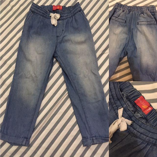 Garterized pants
