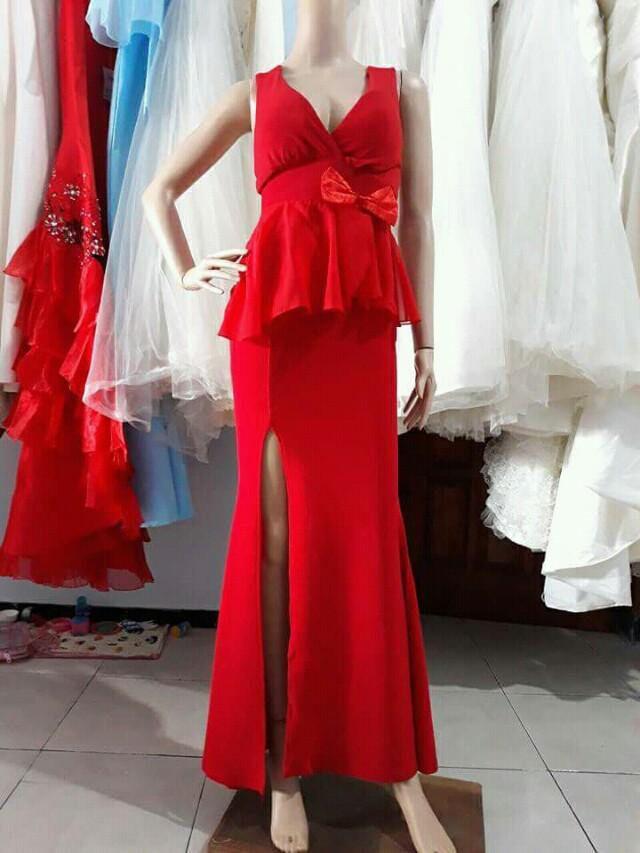 Gaun Merah murah
