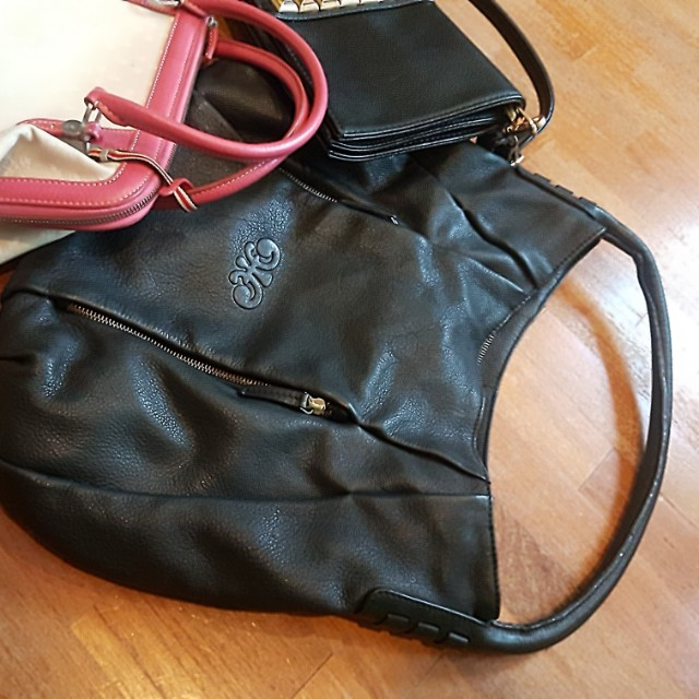 Genuine Leather Steff & Co Hand Bag