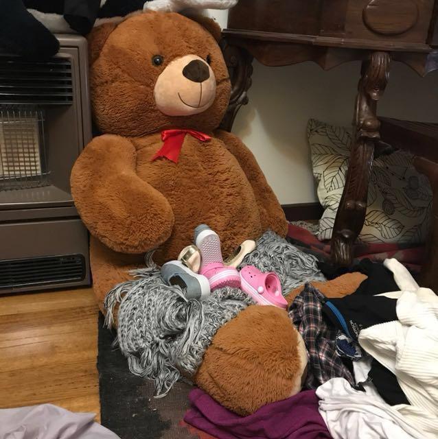 Giant Teddy Bear & medium Orcha & medium pony