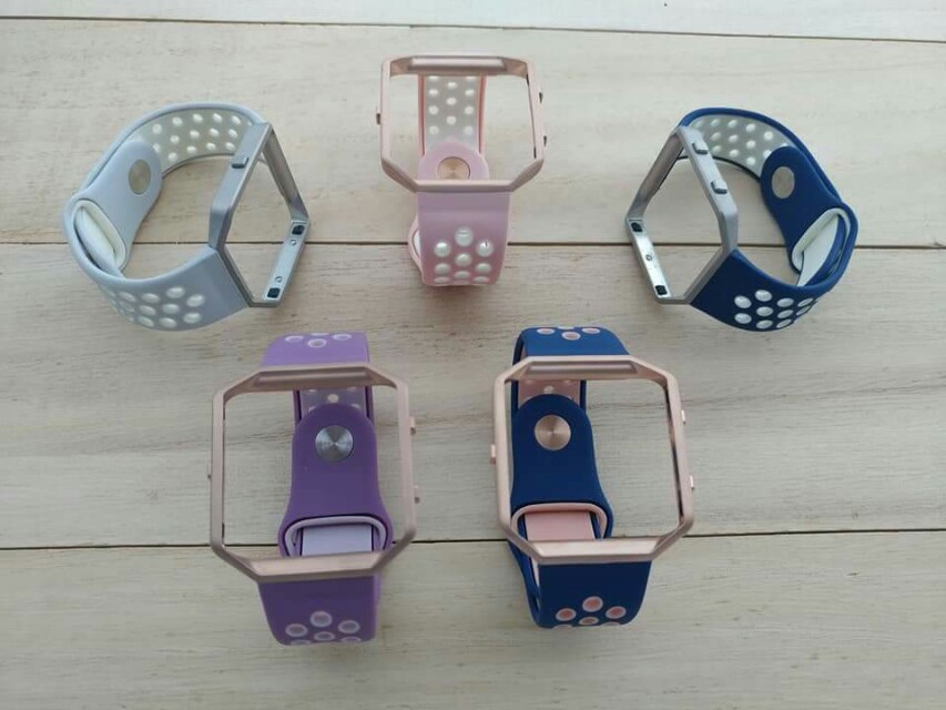Glam Sports Straps for Fitbit Blaze. Glam up ladies!  Look glam and sporty with these nike inspired straps for Fitbit Blaze  Frame and strap are included.