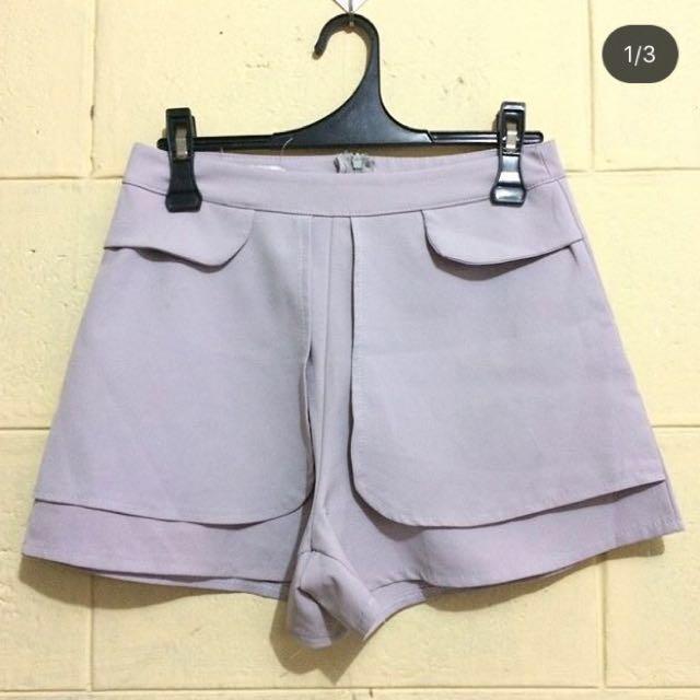 Gray Korean Style Shorts