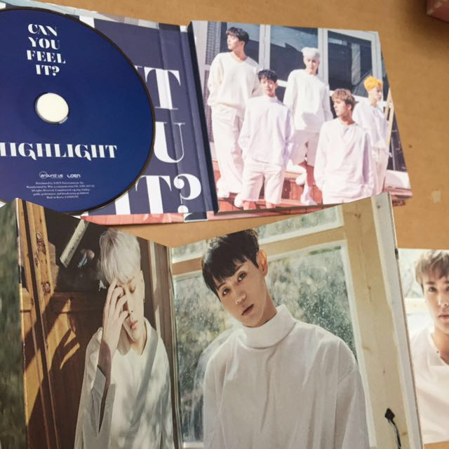 Highlight 1st mini album Can you feel it? Sensibility ver. w/ Dongwoon pc