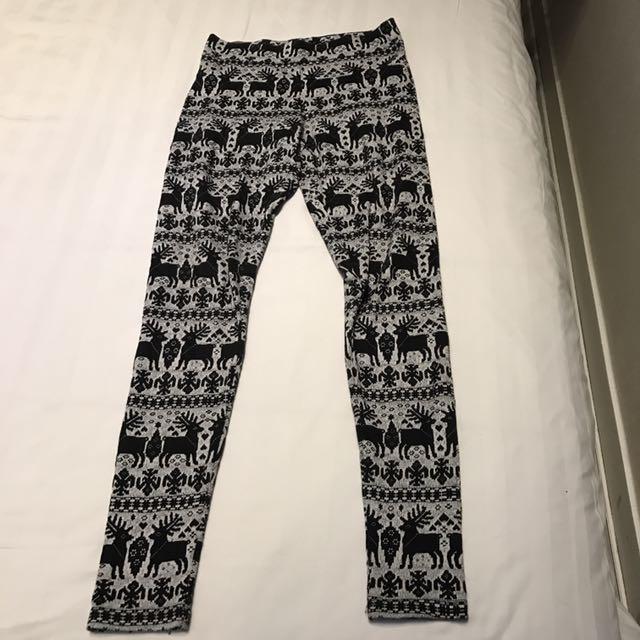 H&M 聖誕麋鹿內搭褲 #冬季衣櫃出清 #有超取最好買