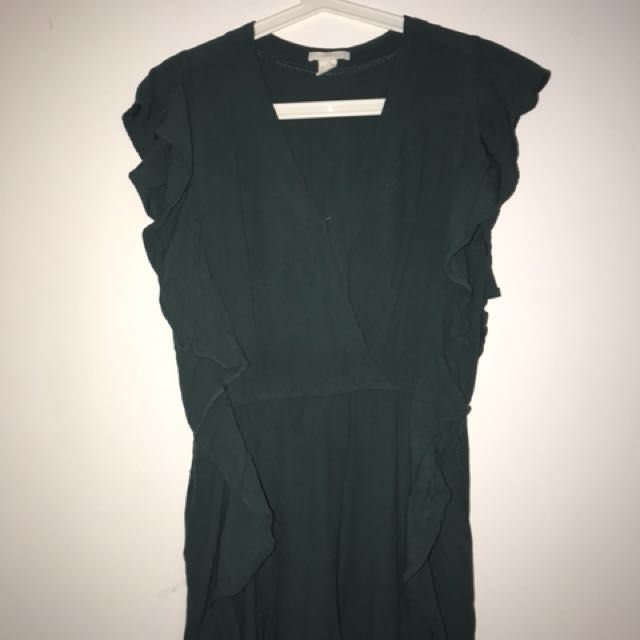 H&M green playsuit