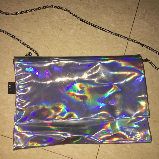 HOLOGRAPHIC Clutch/Sling Bag