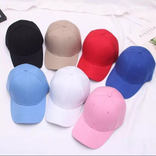 ea65818dbf982 Instock korean style unisex plain baseball caps