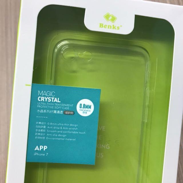 iPhone 7 Benks邦克仕 耐刮防滑設計 水晶透明保護亮殼 全新