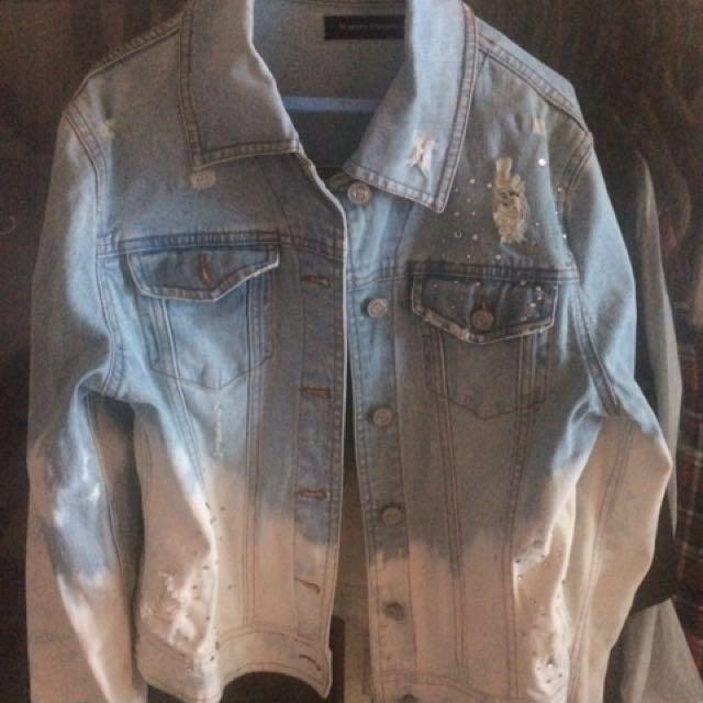 Jacket denim ombre