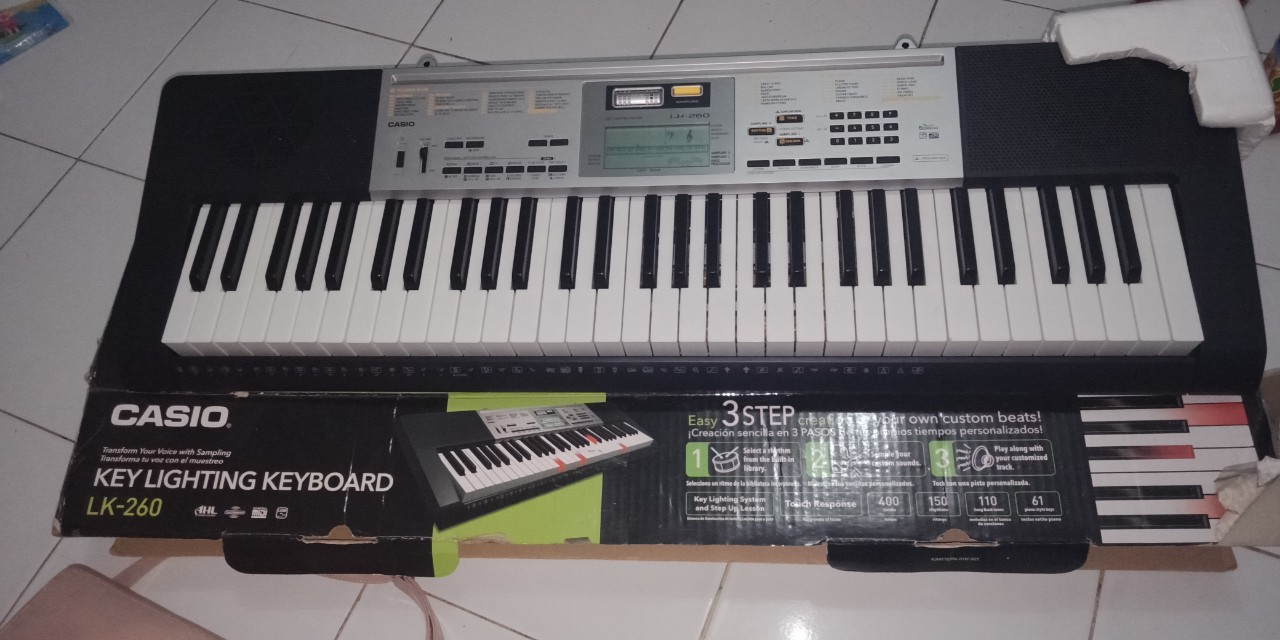 Keyboard Casio LK 260 (Original, Made in Japan)