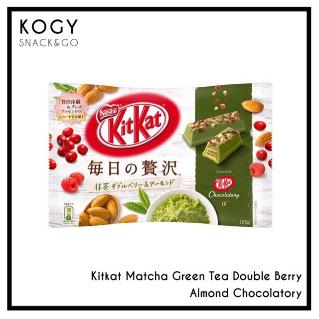 KitKat Matcha Double Berry and Almond