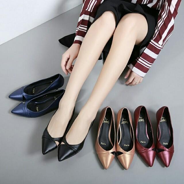 Loubutin short heels semi ori