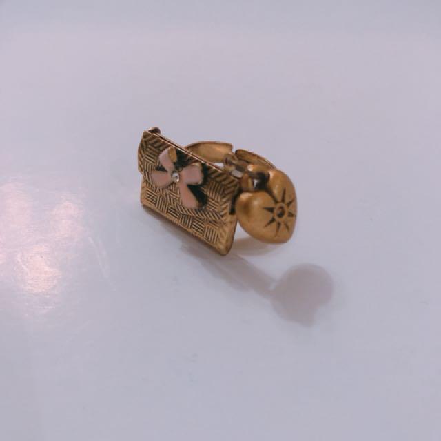 Love letter adjustable ring