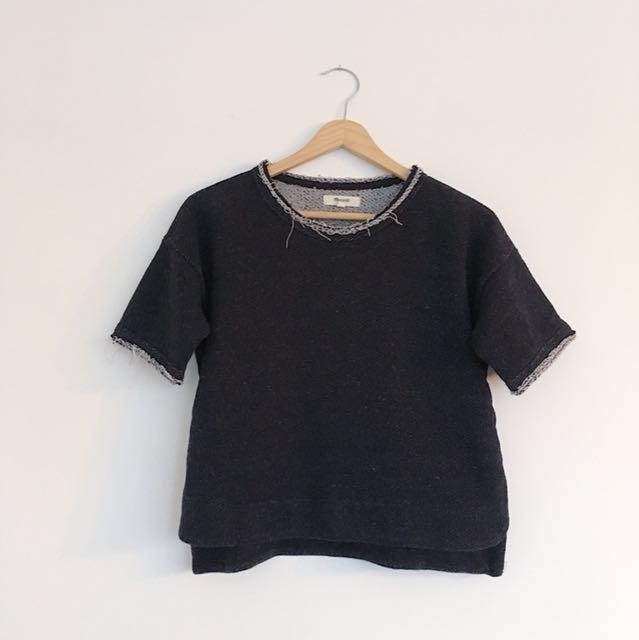 Madewell short sleeve sweatshirt | small