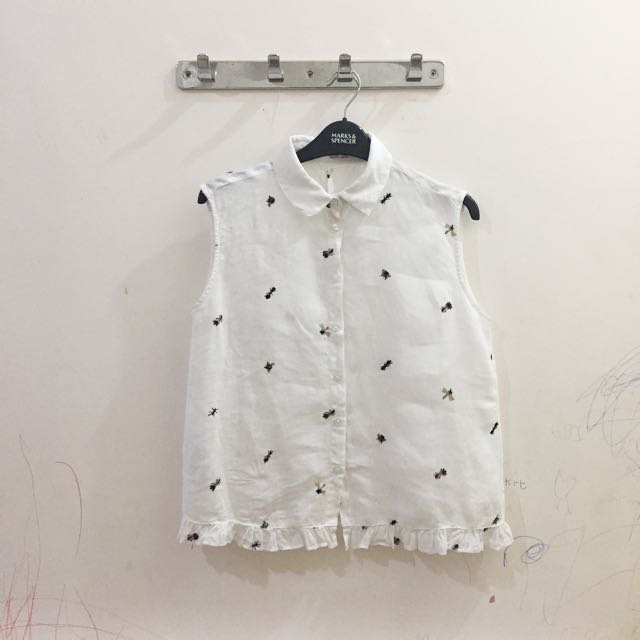 Mango Bugs Sleeveless Shirt