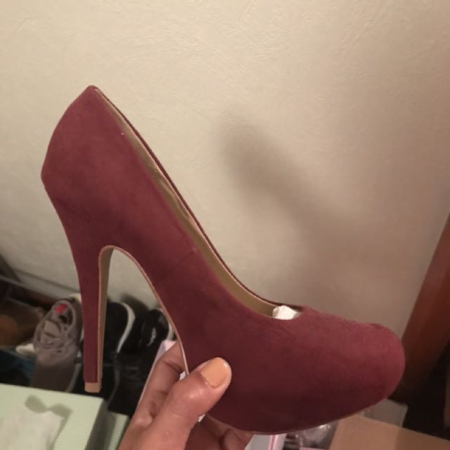 Maroon High Heels