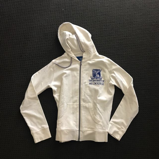 Melbourne University Hoodie White