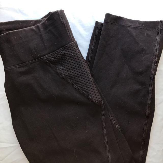 Mesh panel gym tights