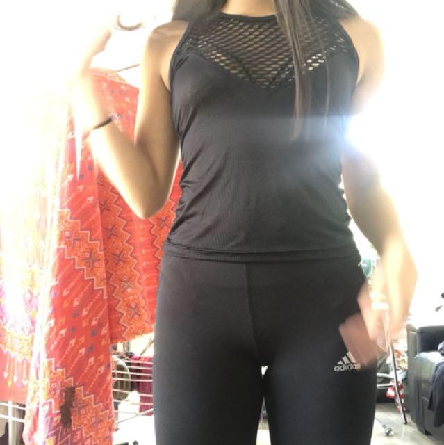 Mesh workout activewear top xs