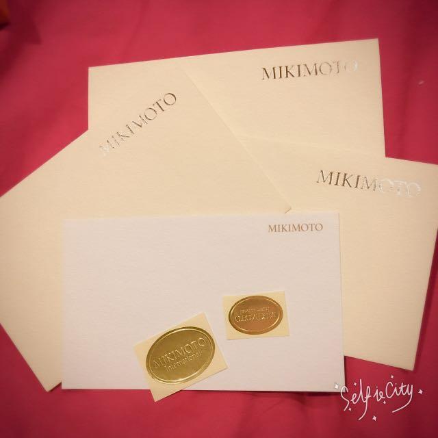 MIKIMOTO信封卡片組
