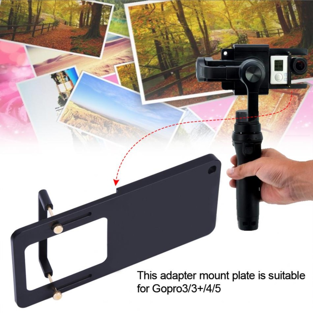 Mount Plate Adapter Handheld Gimbal Accessory For Gopro Hero 3/3+/4/5/6 Action Camera