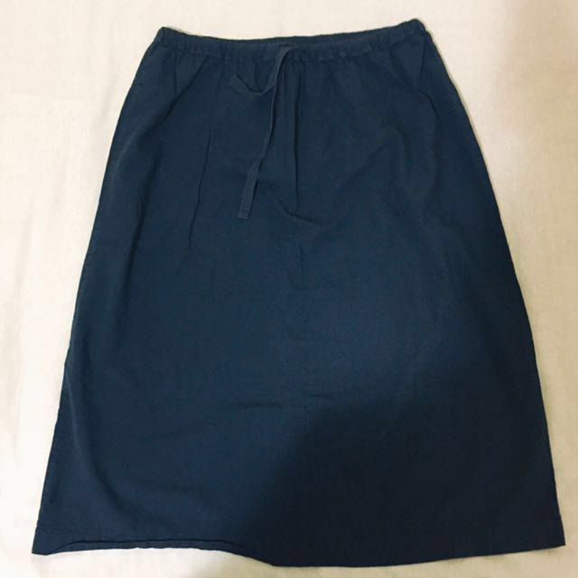 MUJI 100% cotton skirt