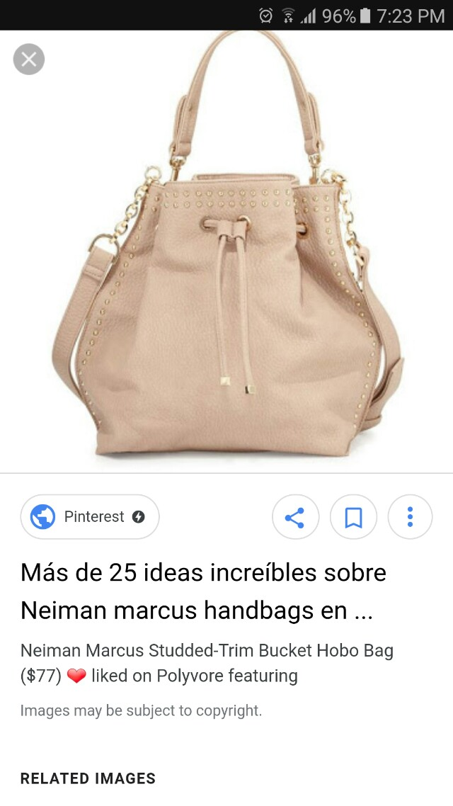Neiman Marcus trim studded hobo bag