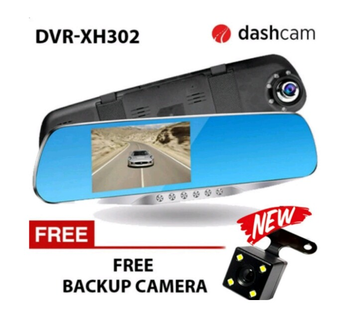 NIA DVR-XH302 4.3 inch LCD 1080p dual lens with LED Car Blackbox DVR two camera full HD dash camera recorder Dashcam DVR-XH302 H42 sensor (UPGRADED BACK ...