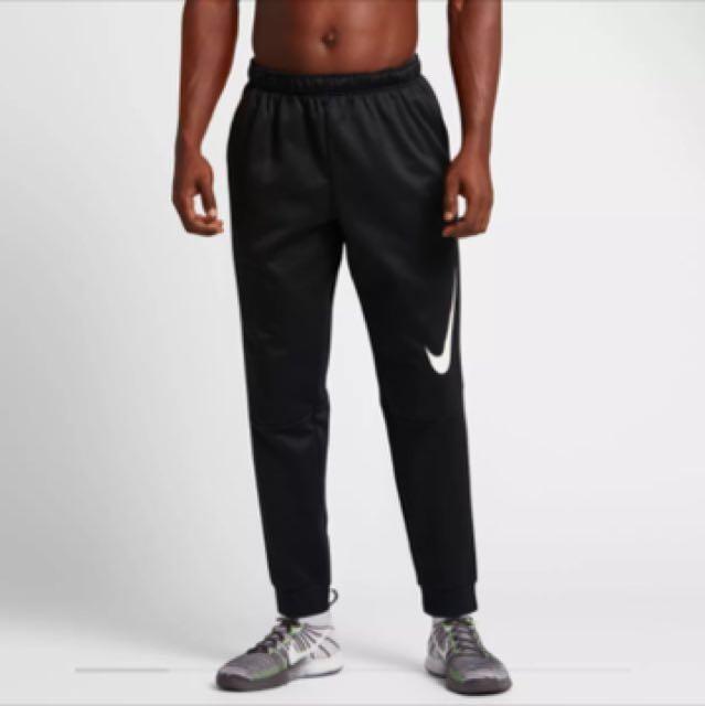 Nike棉褲 黑 大勾