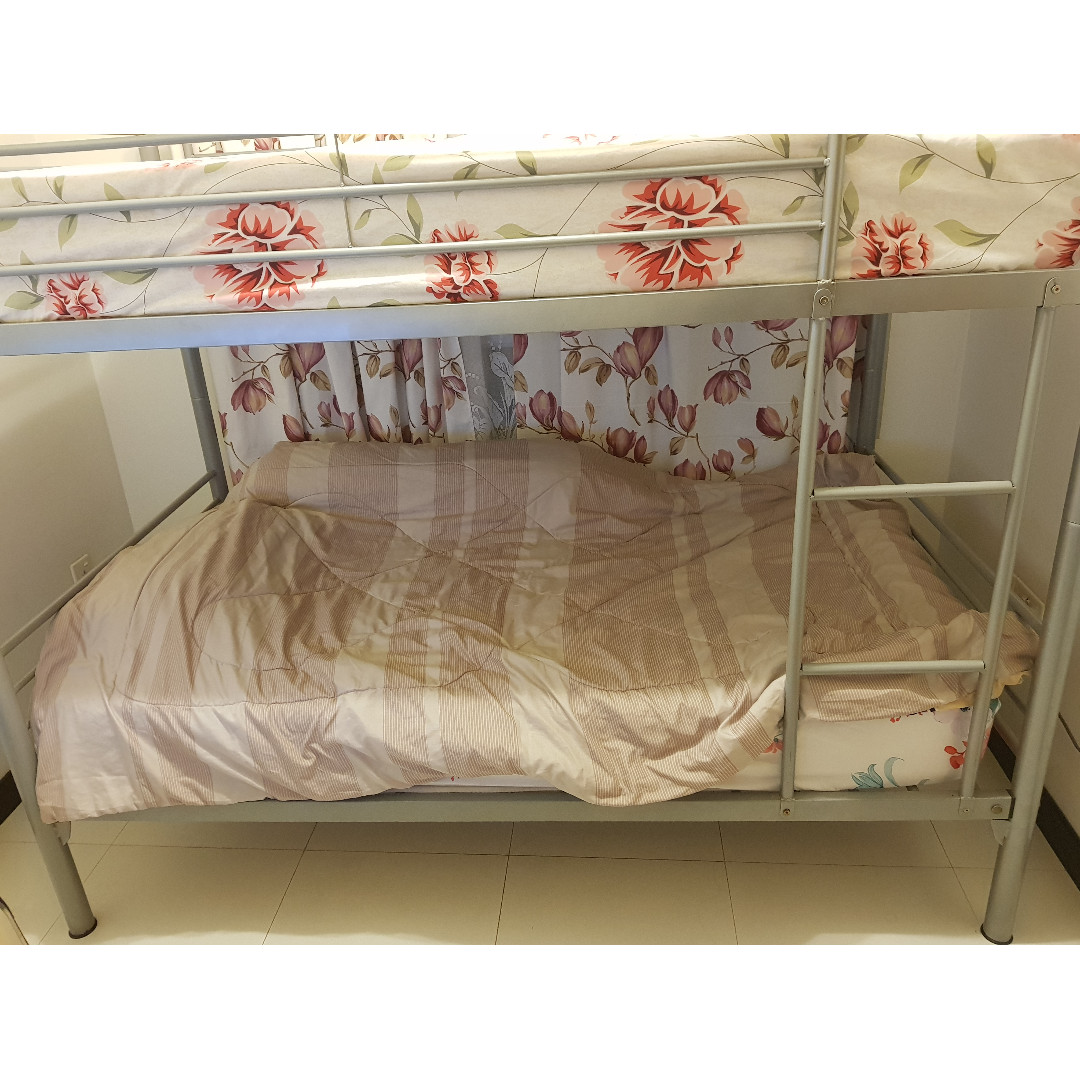 NOT IKEA Very Sturdy Super Single Double Deck Bed Furniture Beds Mattresses On Carousell