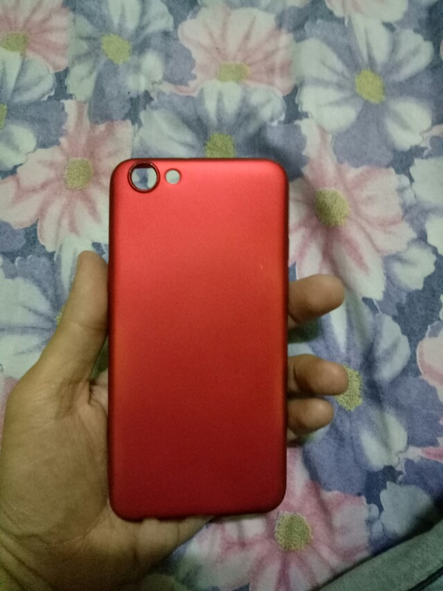oppo f3 rubber case red