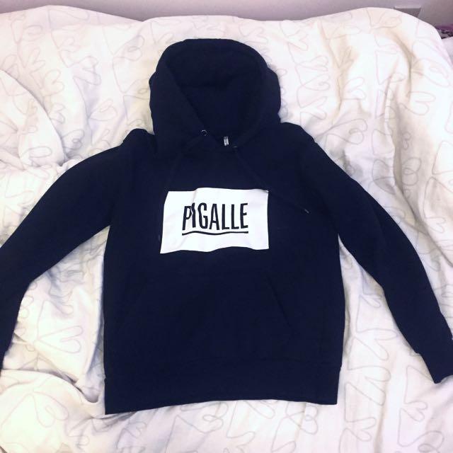 Oversized black hoodie