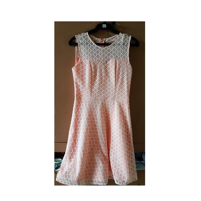 Pastel Orange Lace Dress