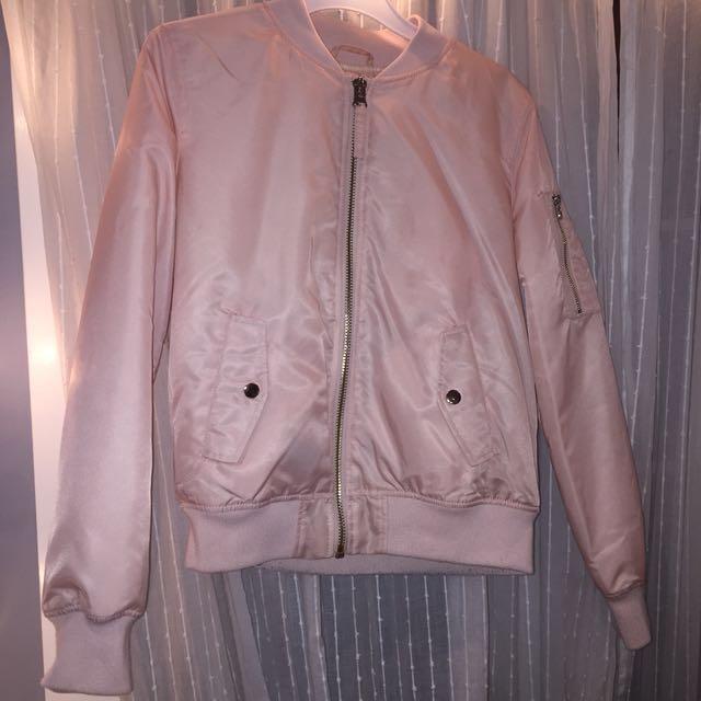 Pink Forever 21 Bomber Jacket