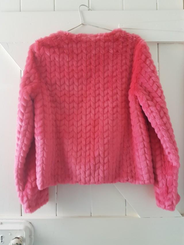 Pink Unreal Fur brand new jacket vegan faux fur