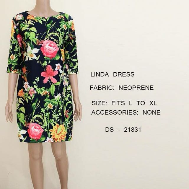 PLUS SIZE Tropical Floral Black Dress Office / Party wear