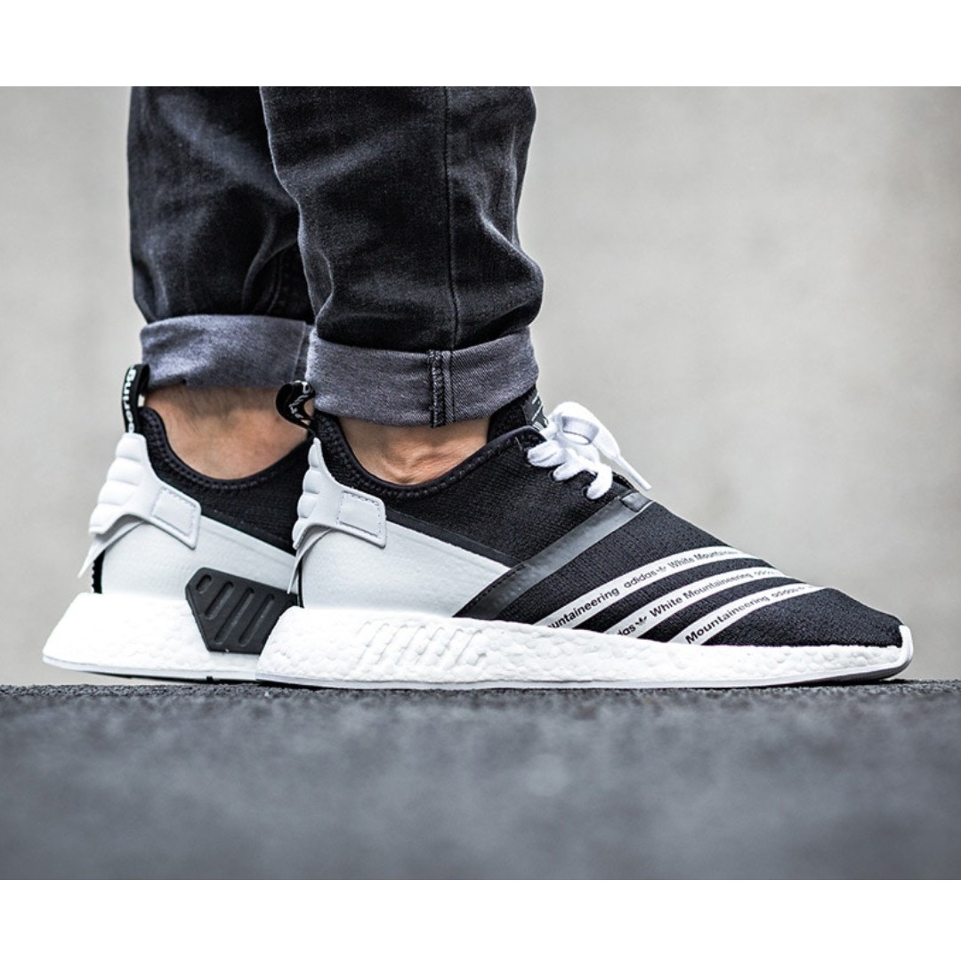 low priced f6424 2abfa PO) Adidas X White Mountaineering NMD R2 PK Black White ...