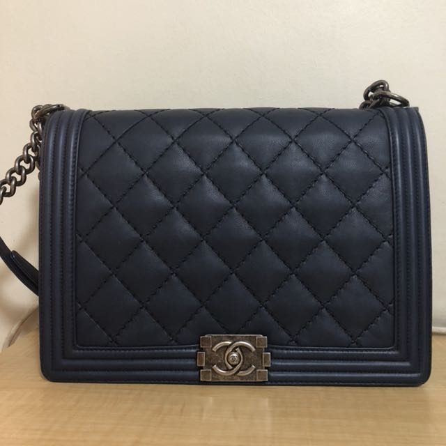 f397fb298488 Preloved Chanel Boy Large, Luxury, Bags & Wallets on Carousell