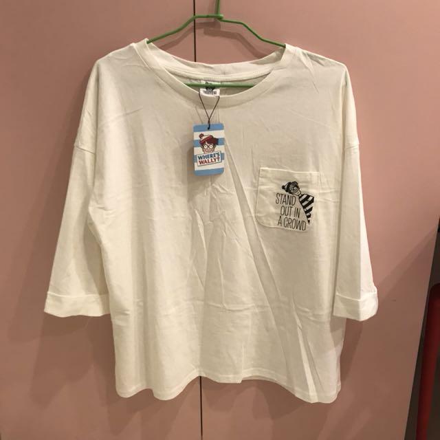 QueenShop 威力在哪裡印花口袋T恤