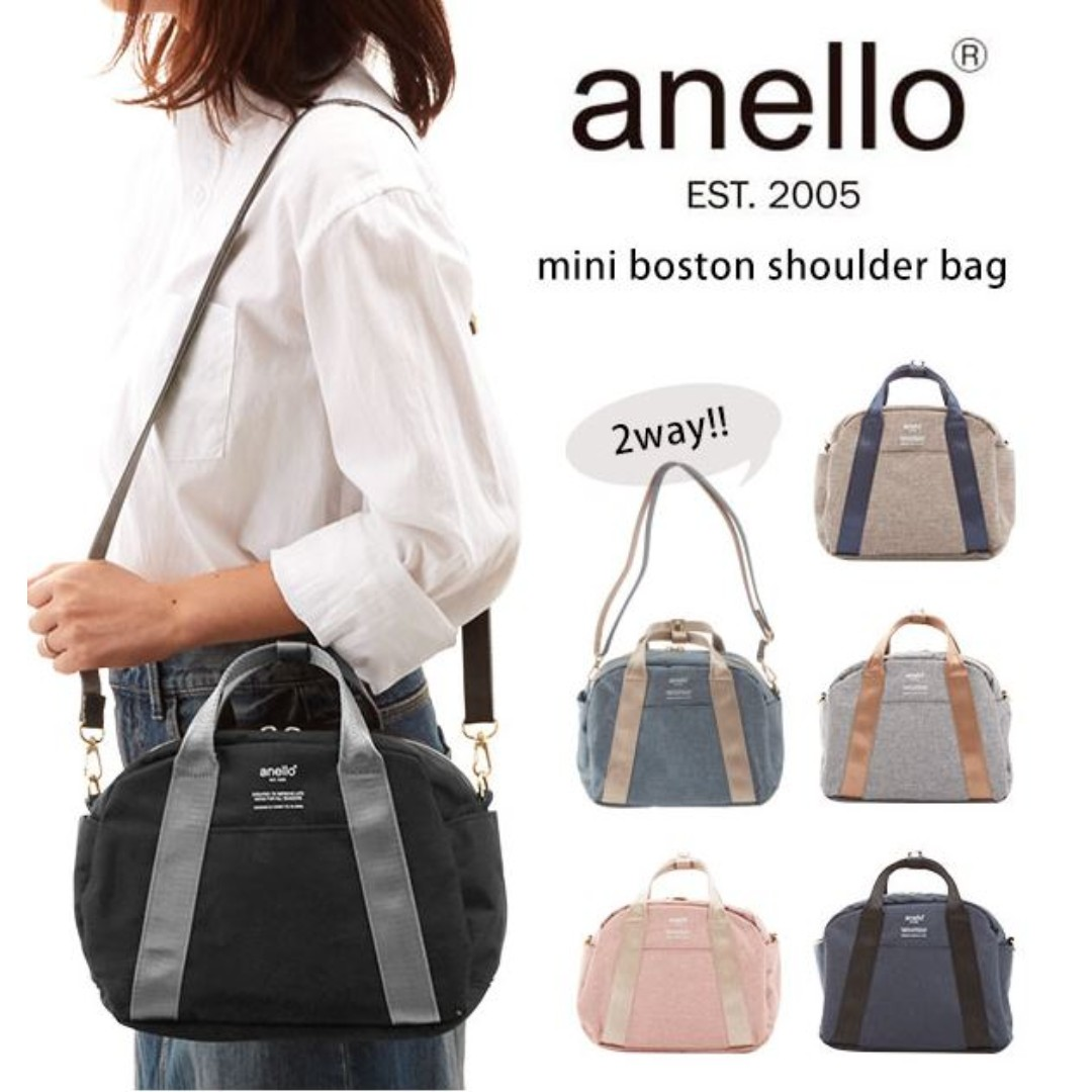 59c345ad0e [Re-Stock] Japan Anello 2 Way Mini Boston Shoulder Sling Bag~ Original 100%  Authentic ☆With Removable Coin Pouch ☆New Release ☆AT-C1835, Women's  Fashion, ...